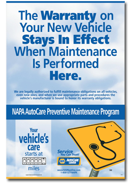 Your new car warranty remains in effect if we do your repairs